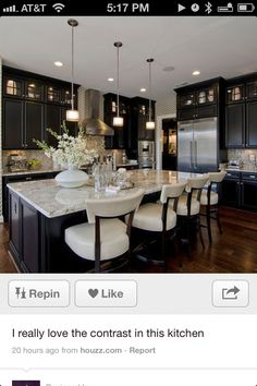 Black Kitchen Cabinets Bar Design Pictures Remodel Decor And Ideas Page 5 Would Love Even More Withe Vintage Cream Color For The Main
