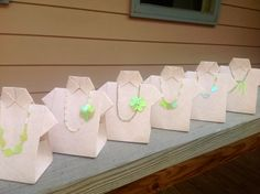 Origami Shirt With Bead Necklace Favor Box