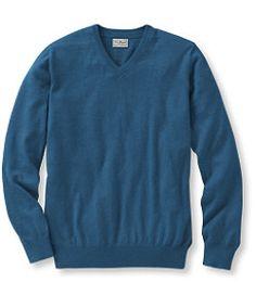 #LLBean: Men's Cotton/Cashmere Sweater, V-Neck