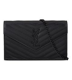 All black YSL clutch. For my black soul Sac Saint Laurent, Saint Laurent Handbags, Handbags On Sale, Black Handbags, Purses And Handbags, Burberry, Gucci, Leather Purses, Leather Handbags