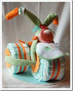 Triciclo di pannolini