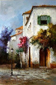 Nelson Molina – Dursun Kurnaz – Join the world of pin Watercolor Landscape, Landscape Art, Landscape Paintings, Watercolor Art, Pictures To Paint, Art Pictures, Realistic Paintings, Art Abstrait, Acrylic Art