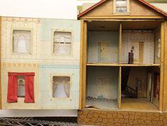A. SCHOENHUT TWO STORY DOLL HOUSE.