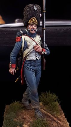 75 mm Napoleonic Grenadier of the Guard  by Antonio Zapatero painted by Gustavo Gil