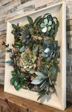 My stained glass succulent wall hanging. 2226 - Sculpture - Print the sulpture yourself - My stained glass succulent wall hanging. 2226 Sculpture Print the sulpture yourself