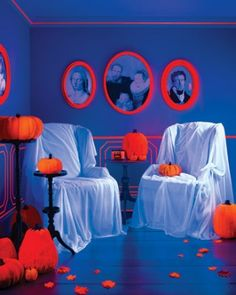 "See the ""Haunted Portrait"" in our Halloween Crafts Ideas gallery covering furniture"