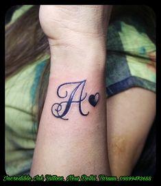 #A #Letter #Initial #Tattoo A letter initial Tattoo #Call #09899473688