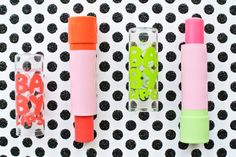 Pretty Squared: Limited Edition Baby Lips - Mad for Magenta and Rose Rush Baby Lips Swatches  #babylips #swatch #beauty #beautyblogger #maybelline #flowers #pink #pretty #lips #makeup #polkadots #glitter #coral #magenta