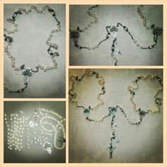 Lasso rosary .. fresh water pearls , for orders mimiandlola@gmail.com