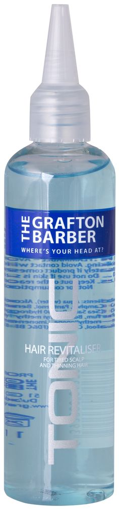 The Grafton Barber Tonic - Our Tonic is designed for dry scalp and thinning hair, it leaves the scalp feeling revitalised and fresh through its menthol qualities. #Men #Style #Barber