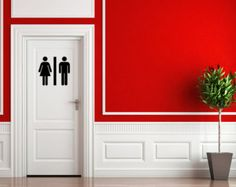 Check out Restroom Vinyl Decal Adhesive Decal Sticker Bathroom Decal on inspirationwallsigns