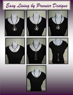 "Look at all the ways you can wear the ""Easy Living"" necklace!!!!!"