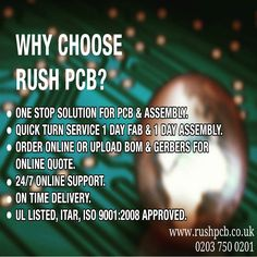 Something we loved from Instagram! Why choose us? #pcb #pabmanufacture  #pcbdesign #prototype and #pcbassembly #ledpcb #electricalengineering #electronic #engineering #hobbyist #startup #kickstarter #circuitboard #uk #london #electronics #tech  #technology #instatech #gadgets #device #engineer #robots  #flexpcb #rigidflex #raspberrypi #circuit #robots #arduino #bom  read more on: www.rushpcb.co.uk/  02037500201 email us on: sales@rushpcb.co.uk by rushpcbuk Check us out http://bit.ly/1KyLetq