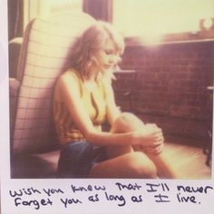 Taylor Swift Polaroid 62 - I Wish You Would #1989 i gave this one to my best friend right before i moved