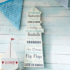 Lighthouse Wooden Sign with Words Idea.