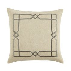 Geometrics are everywhere from fashion to home fashion and our Lattice Embroidered Linen Pillow makes it easy to layer in the look. Our popular Everyday 10 oz. Natural Linen is richly embroidered in a stylish lattice design. Add a monogram for a custom touch.