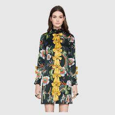 Dragon flower print dress