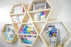 DIY Hexagon Shelf fo