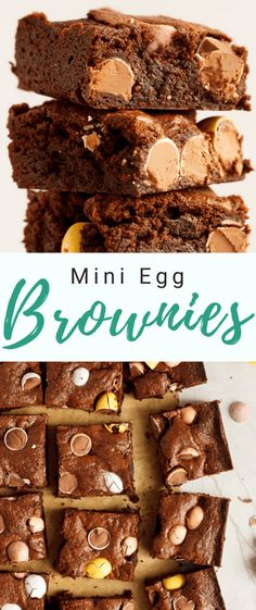 How to Make Mini Egg Brownies Mini Egg Recipes, Fun Easy Recipes, Best Dessert Recipes, Easter Recipes, Easy Desserts, Baking Recipes, Delicious Desserts, Easter Ideas, Pie Recipes
