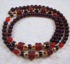 Stunning Vintage Garnet and Siam Ruby Art Deco by RedsArtJewelry, $24.00