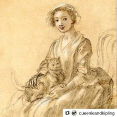 For Day 7 of the @dames_a_la_mode #GeorgianJanuary challenge with the theme of #friends  A reminder (as if we needed it) that kitties sometimes make the best friends!...@Repost @queenieandkipling with @repostapp ・・・ #georgianjanuary #day7 challenge hosted by @dames_a_la_mode is: #friendship and #queenieandkiplingsavetheday know that a #rescuecat makes the #bestkindoffriends so #cheers to #paulsandby for #drawing this lovely little #sketch currently in the @britishmuseum (1804-0819-193)…