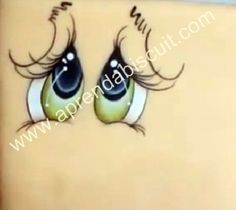 How to paint eyes. Eye Painting, One Stroke Painting, Painting Tips, Doll Eyes, Doll Face, Crafts To Make, Arts And Crafts, Cartoon Eyes, Snowman Faces