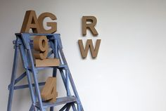 Recycled 3D Cardboard Letters & Numbers, from £2.50
