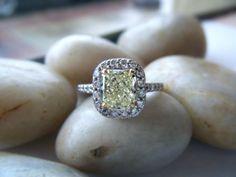 Fancy Yellow Diamond Engagement Ring. Simply stunning.