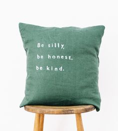 Be Silly Pillow | Individually crafted just for you, this charming linen pillow ... | Throw Pillows