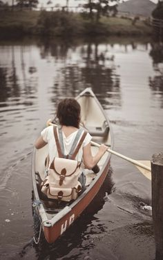 Lake Escape | Girl in Canoe Boat