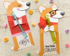 Cat Valentines Candy Huggers Printable Kitten por KudzuMonster