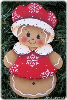 Printer Projects New York Fridge Magnets Souvenir Products Gingerbread Ornaments, Gingerbread Decorations, Christmas Gingerbread, Diy Christmas Ornaments, Holiday Crafts, Christmas Decorations, Gingerbread Men, Christmas Rock, Painted Ornaments