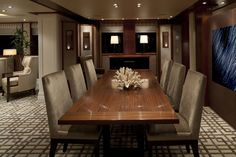 dining view port M/Y Monarch