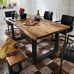 22 diseños modernos de mesas de comedor de madera Bathroom Tub Shower, Tub Shower Combo, Small Bathroom, Table Office, Wood Table Design, Diy Furniture, Woodworking Projects, Dining Table, Home Decor