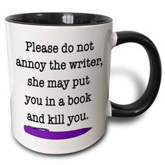 8 Best Mugs to Gift a Writer (or Yourself). Love mugs? Struggling to find the best mugs to gift a writer? Worry no more. The most adorable mugs here. Writing Humor, Writing Quotes, Writing Help, Writing A Book, Writing Prompts, Writing Tips, Book Quotes, Writing Corner, Book Prompts