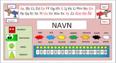 FredagsKilden: DIVERSE undervisningsmateriell 1-9 Red Blue Green, Periodic Table, Classroom, Education, Black And White, 3c, First Grade, Class Room, Periodic Table Chart