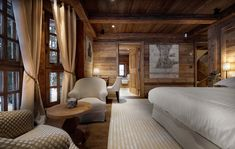 Sheltering amidst the snow-laded pines, Chalet Gentianes is one of the most sought-after luxury ski chalets in Courchevel France. This is a ski in and out chic mountain retreat with only a five minute Chalet Chic, Hotel Chalet, Chalet Style, Ski Chalet, Alpine Chalet, Chalet Design, Chalet Interior, Interior Design, Interior Ideas