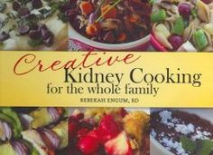 Kidney Friendly Cookbook—for non dialysis and non-transplant patients, the recipes are low phosphorous, potassium, calcium, and sodium. The recipes tend to be higher protein, with the ability to omit or decrease the amount of the protein sources in many recipes.