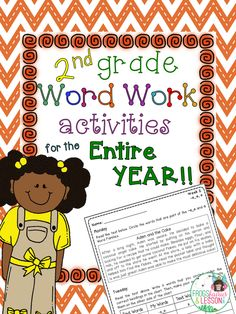 Second Grade Word Work activities for the whole year! Each activity comes with a SHORT STORY that introduces the word families in context. Kids identify, sort, create their own words, write sentences, and alphabetize words.