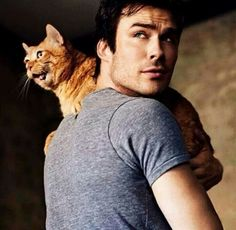 wish I could crop the cat out of this picture because Ian is so cute here <3