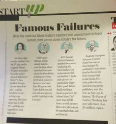 """learning from failure in my inspiring life story The trick is to learn a positive lesson from all of life's negative moments""""  """"my story of success and failure is not just about music and being famous it's about living and loving and trying to find purpose in this crazy world""""  50 awesomely inspiring quotes about failure is cataloged in career, failure, inspirational."""