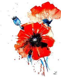 Poppy Red by Zaira Dzhaubaeva
