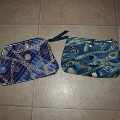 $5 2 Estée Lauder make up bags/pouches NWOT! Really cool prints! Very versatile! So many uses! Estee Lauder Bags