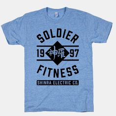 Soldier Fitness #finalfantasy #ff7 #shinra #fitness #nerd