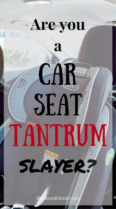Handled an epic car seat tantrum or toddler meltdown? You deserve the Tantrum Slayer Patch! A humorous take on how to keep your sanity during car seat tantrums | The Mom Friend #sponsored #wingmama