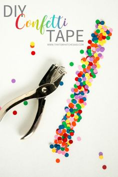 You will want to go crazy making this DIY confetti tape after you see how easy and fun it is! Perfect for gift wrap, stationary, snack bags and more!