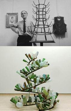 Es evident que l'obra de Toni Cragg esta inspirada amb la de Duchamp ja que les dues obres son botellers i estan fetes de ferro. La diferencia entre les dugues es la forma i el context de la obra. El que m'ha cridat més l'atenció d'aquesta obra es la semblança que hi ha amb la obra de Duchamp. Les dues obres estan només reacionades exteriorment. Em sembla bastant interesan veure dues obres molt similars de significats totalment diferents.