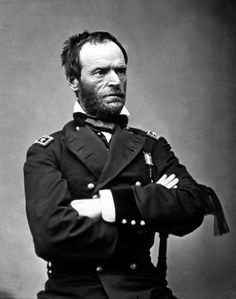 U.S.A. General William Tecumseh Sherman, 1865. He served as a General in the Union Army during the American Civil War (1861–65)