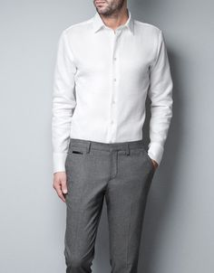 Tailored Shirt: White $60