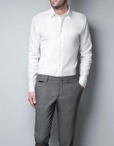 Tailored Shirt: White $60
